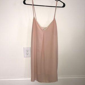 Tobi blush shift dress